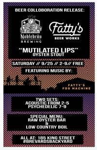 """""""Mutilated Lips"""" Oyster Stout Release with music by Fatty's Fog Machine"""